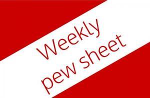 Weekly Pew Sheet Logo