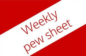 Weekly Pew Sheet Logo