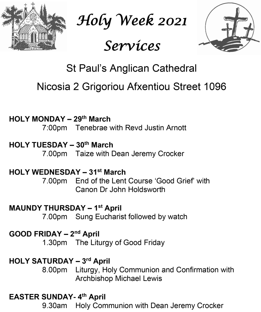 2021 Holy Week Services